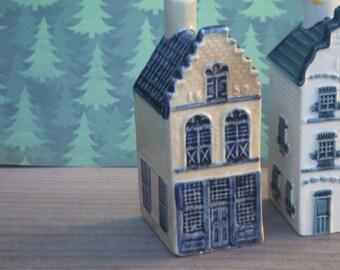 Vintage KLM Canal House No. 15. Blue Delft. Porcelain. Amsterdam House.