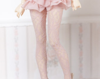 pink lace High socks stockings  BJD