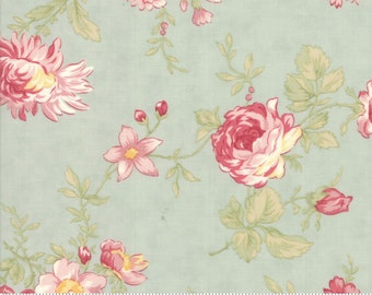 Poetry - Romantic Blooms in Mist by 3 Sisters for Moda Fabrics