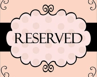 Reserved Listing for Tammy