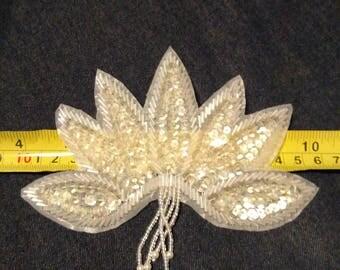 """6x5"""" Lotus Applique Crystal"""