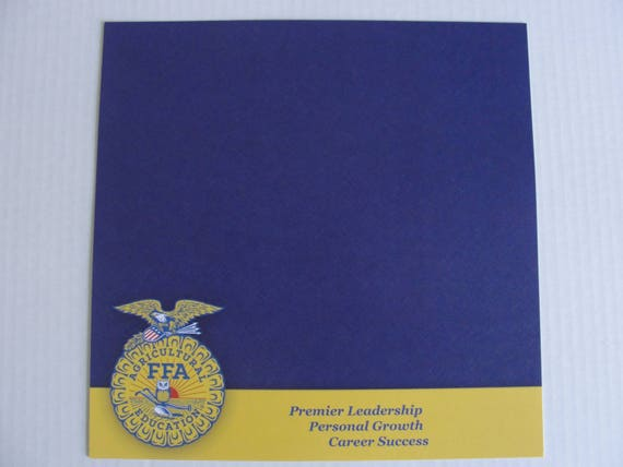 New FFA 12x12 scrapbook paper Premier Leadership Personal