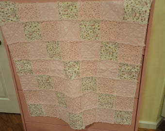 Small Baby Girl Rag Quilt