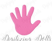 Hand Print Solid Fill Machine Embroidery Design Digital File 1x1 2x2 3x3 4x4 Small Tiny Mini INSTANT DOWNLOAD
