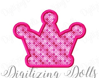 Crown Applique #6 Machine Embroidery Design 3x3 4x4 5x5 5x7 6x10 Princess Prince INSTANT DOWNLOAD