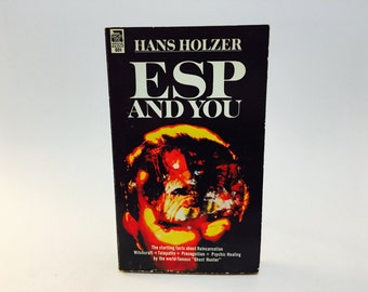 Vintage Occult Book ESP and You by Hans Holzer 1966 Edition Paperback Metaphysics
