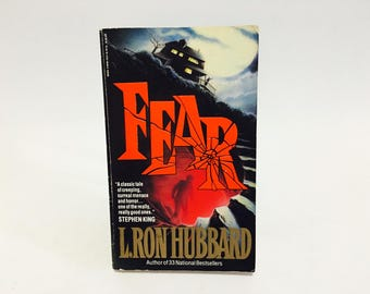 Vintage Horror Book Fear by L. Ron Hubbard 1991 Paperback