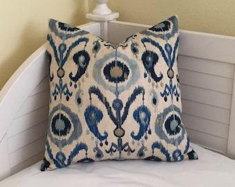 Kravet Zaria Ikat Designer Pillow Cover   - Square, Lumbar, Euro and Body Pillow CoverSizes