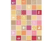 Modern Minis by Lori Holt - Modern Main in Orange (C4760-ORANGE) - 1 Yard