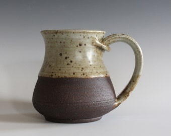 Pottery Coffee Mug, 10 oz, ceramic cup, handthrown mug, stoneware mug, pottery mug, unique coffee mug, ceramics and pottery