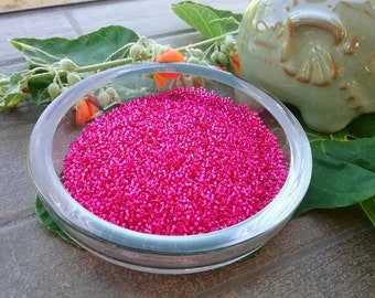 Matsuno Seed Beads, 15/0, Silver Lined Fuchsia, 5 gram vials, Priced per vial