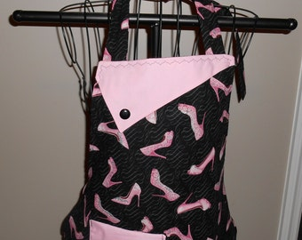 Pink Glitter High Heels Women's Apron