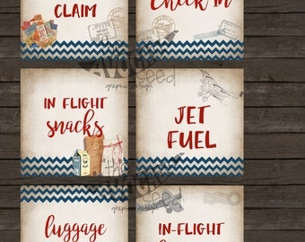 "6x6"" Airplane Birthday Signs - Instant Download for DIY Printing (for professional prints, convo)"