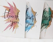 For Becca-Flight Thank You Card 3 Pack--Assorted Colors