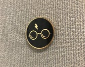 "Harry Potter Enamel Pin ( 1"" hard enamel lapel pin or hat pin )"