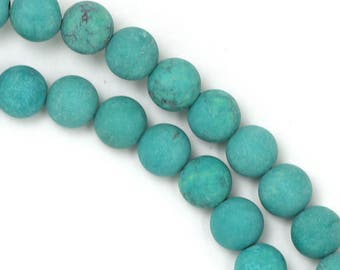 Blue Magnesite Beads - Matte Finish - 6mm Round - Limited Quantity
