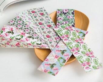 30 Pcs Pear Flower Haitang Bookmark- Die Cut Cardstock Scrapbook Embellishment Bookmark