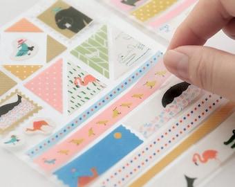 4 Sheets Scrapbooking Stickers Die Cut Stickers Paper Deco Sticker Stamp