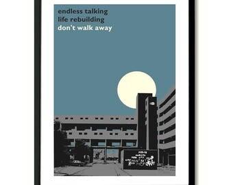 Atmosphere Joy Division inspired  Poster Art Print