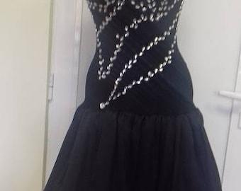 Black dress with crinoline
