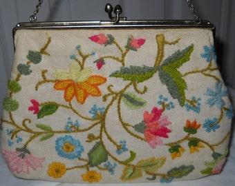 Vintage Purse - Flowers