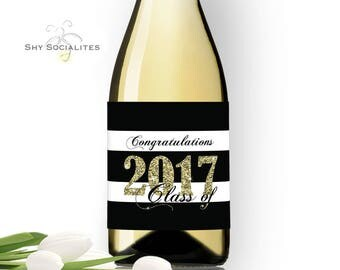 Printable wine label   Etsy