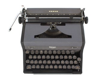 Royal Arrow Typewriter - Vintage -1940's - Manual - Portable - Glass Keys