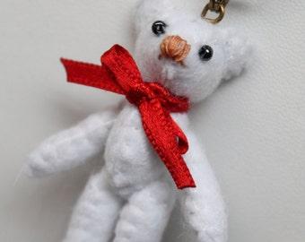 Necklace Teddy Bear Felt Meilosito