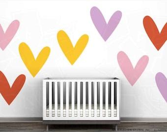 So Much Love Wall Decal Mural By LittleLion Studio  Yellow Heart, Light  Pink Heart Part 59
