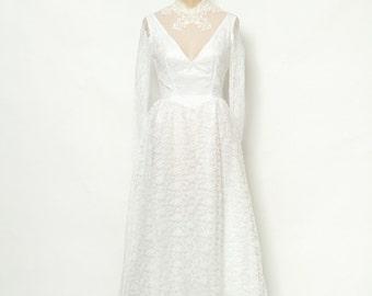 Vintage wedding dress  / Maxi dress / dress / long maxi dress / boho dress / 70s / wedding / 70s wedding / wedding gown / 70s bride / 1970s