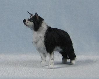Border Collie Soft Sculpture Miniature Dog by Marie W. Evans