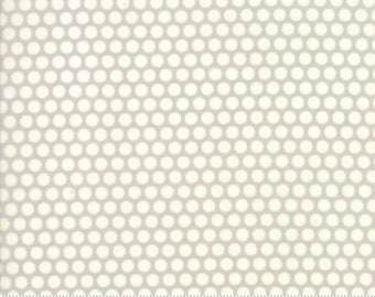 Bonnie and Camille Fabric - Bonnie Camille Grey 55023 36 Moda Basics  - Bliss Dot Grey