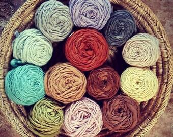 HandSpun Plant Dye Wool Yarn