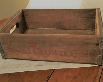 Vintage Wood Royal Crown Cola crate