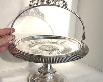 Silver Tray, Antique Silver, Wedding, Bridal Basket, Shower, Serving, Victorian, 1800s
