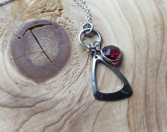 Red, Silver Necklace- Glass and Metal Necklace- Cluster Drops- ONLY 1 AVAILABLE