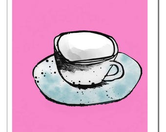 Coffee Cup n' Saucer Art Print
