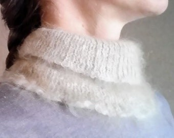 Made to order- Angora neck cozy, cowl, neck warmer