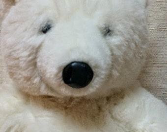 "Applause 1986 20"" Polar Bear Plush, White Polar Bear Plush, Stuffed Animal"