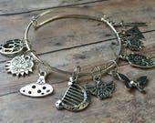 Legend of Zelda stitch marker/bracelet set - knitting jewelry for your project bag!