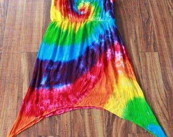 Tie Dye Rayon Dress Size XL