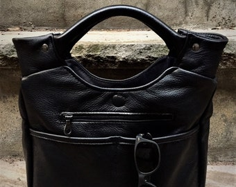 Leather Tote, Top Handle Tote, Leather Handbag, Choice of leather and lining, Laurel Dasso