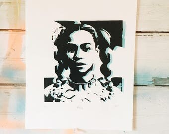 All Hail Queen Bey .  - Glow in the Dark hand pulled screen print