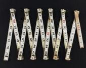 vintage wood folding ruler -  LUFKIN red end No. 646