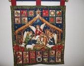NEW! Christmas Advent Calendar - Golden Nativity