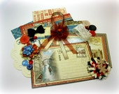 Graphic 45 City Escapes Inspiration Kit, Embellishment Kit, Card-Making Kit for Scrapbook Layouts Cards Mini Albums and Paper crafts