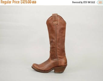 MAY SALE 70's Western Leather Boots (US 6.5)