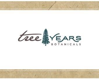 PreMade Vector Logo Design - PreDesigned Logo - TREE YEARS Logo Design -  Tree Logo - Nature Logo - Forest Logo - Plant Logo - Eco Logo