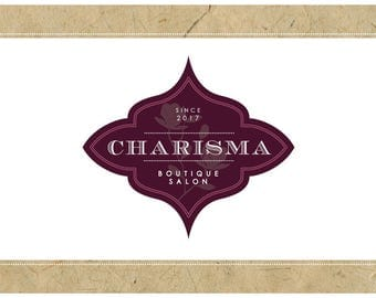 Custom Logo Design - PreDesigned Logo PreMade Logo Vector Logo - OOAK Logo - CHARISMA Logo Branding - Gothic Chic Logo - Victorian Logo