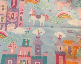 Castles and Unicorns - FLANNEL - 1 yard